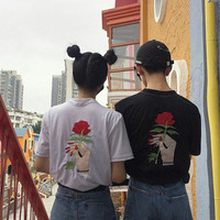 Give You A Rose Embroidered Tee