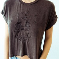 CALEIGH MOON TEARS BY BRAIN FOETUS EMBROIDERY TOP