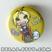 Fullmetal Alchemist - Ed the Elder Button