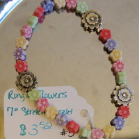 "Ring of Flowers 7"" Stretch Bracelet"
