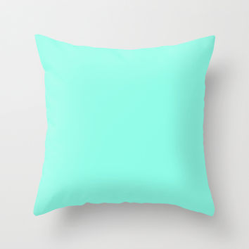 Mint Throw Pillow by 2sweet4words Designs