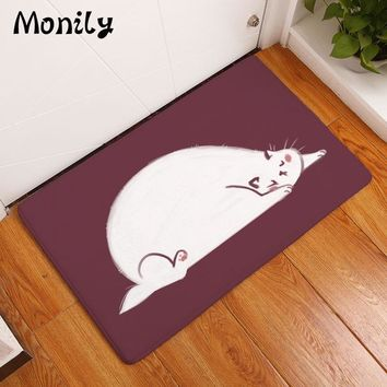 Autumn Fall welcome door mat doormat Monily Waterproof Anti-Slip  Cartoon Cute Animals Cat Tiger Carpets Bedroom Rugs Decorative Stair Mats Home Decor Crafts AT_76_7