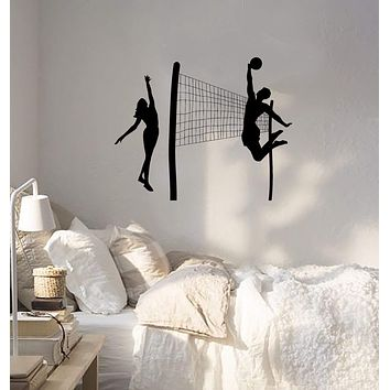 Wall Sticker Vinyl Decal Beach Volleyball Sports Leisure Relax Unique Gift (ig1865)