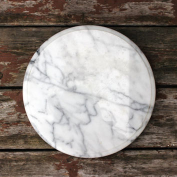 Vintage Marble Lazy Susan | Large 12"