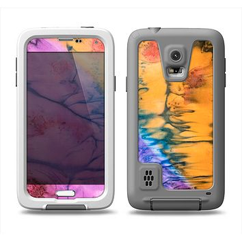 The Vivid Colored Wet-Paint Mixture Samsung Galaxy S5 LifeProof Fre Case Skin Set