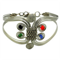 African Jewelry - Colorful Six Swirl Bracelet