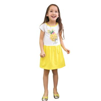 Girl Summer Dress Children Party Dresses Pineapple Print Robe Enfant Princess Dress Kids Costumes