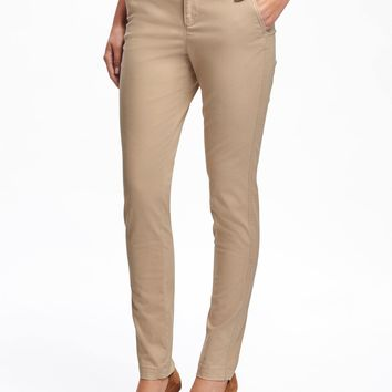 Mid-Rise Skinny Everyday Khakis for Women|old-navy