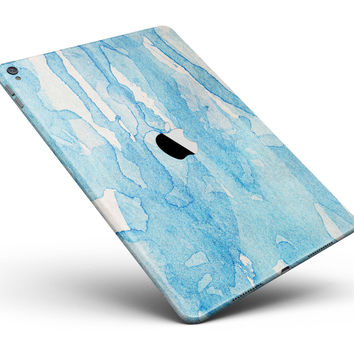 """Blue Watercolor Drizzle Full Body Skin for the iPad Pro (12.9"""" or 9.7"""" available)"""