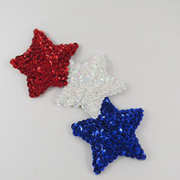 Three Star Glass Beaded Magnet