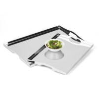 Serving Tray in Stainless Steel 18/10 Grade with Handles Elleffe Design