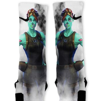 Fortnite Ghoul Trooper Custom Nike Elite Socks