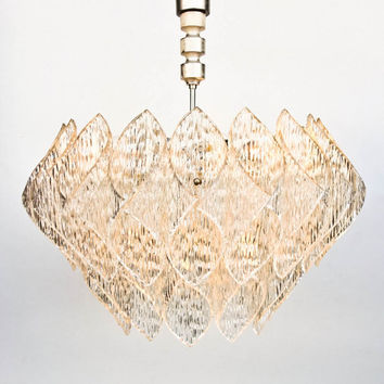 Lovely Mid Century Modern Folded Lucite Acrylic Chandelier Kalmar Style Ceiling Light Amazing - Style Of mid century ceiling light Photo