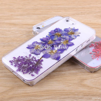 Pressed Flower swallows iPhone 5 case, iPhone 4 case, iPhone 4s case, iPhone 5s case, iPhone 5c case, Galaxy S4 S5 Note 3 - 01033-4