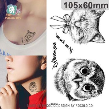 Tattoo Sticker  waterproof temporary owl