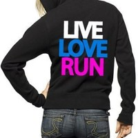 Live Love Run Cross Country Zip Hoodie Sweatshirt