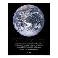 Carl Sagan - Pale Blue Dot Poster from Zazzle.com