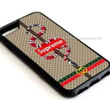 Supreme Snake Luxury Christmas For iPhone 8 8+ 7 7+ 6 6+ 6s 6s+5 5s Samsung Case