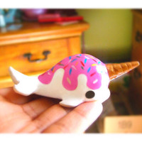 Kawaii cute ice cream Narwhal classic painted version