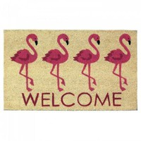 Flamingo Welcome Mat (pack of 1 EA)