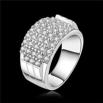 Casual Silver Plated Party Wedding Bands For Women R485