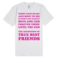 Best Friends Until The End-Unisex White T-Shirt