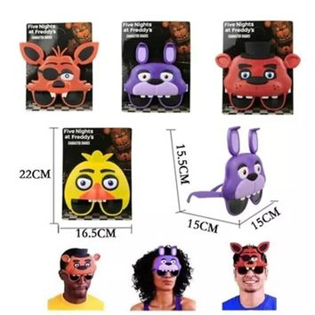 Newest Anime Five Night At Freddy Figures Toy Chica Foxy Bear Freddy Mask Party Halloween Cosplay Children's Toy Adult