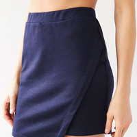 Silence + Noise Knit Asymmetric Wrap Mini Skirt - Urban Outfitters