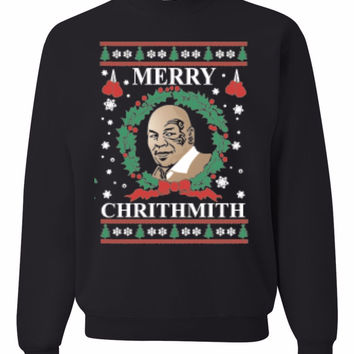 Merry Chirithmith Mike Tyson Ugly Christmas Sweater Unisex Sweatshirts
