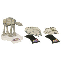 Star Wars Die Cast Titanium Vehicle [Luke Skywalker's Snowspeeder, Millennium Falcon, AT-AT]