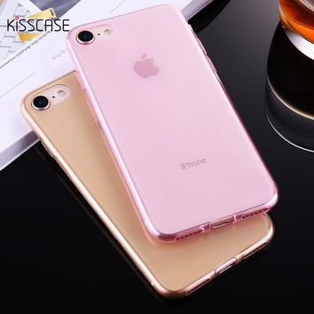 KISSCASE Ultra Thin Silicon Gel Soft Case For iPhone 6 6s Plus Cover Fundas Skin Shell For iPhone 7 7 Plus Case Fundas Coque