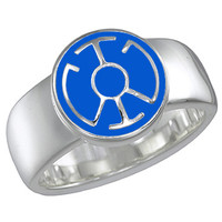 Blue Lantern Inspired Silver Ring Enameled Jewelry V2