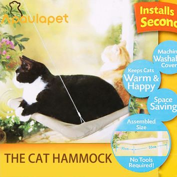 APAULAPET TV Window Mounted Cat Bed Pet Hammock Suction Pad Pet Bed Pet Nest Sunny Seat Cat Bed Sunny Seat Machi