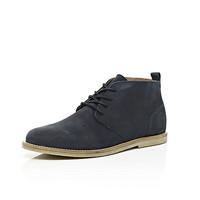 River Island MensNavy lace up chukka boots