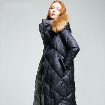 womens quilted jackets with fur hood women winter 2016 with real fur hooded long puffer jacket with fur hood coat white russian