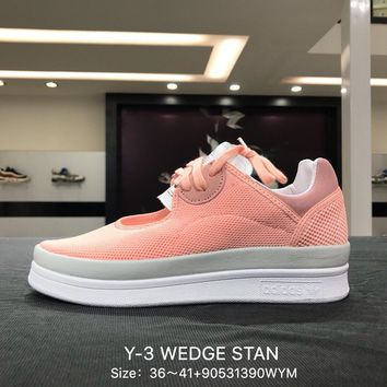 Y-3 WEDGE STAN 2018 Pink White Women Sports Running Shoes Sneaker