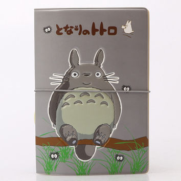 Cute Cartoon Totoro Passport Cover ID Credit Card Bag 3D Design PVC Leather Passport Holder Bag 14*9.6CM