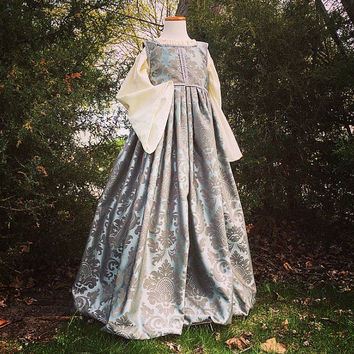 Renaissance Gown, theatre costume, flower girl dress, renaissance clothing, historical clothing, medieval attire, cosplay costume