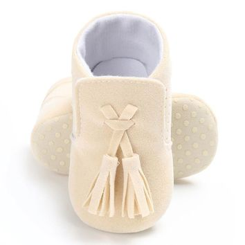 Tassel Moccasin Slippers Tassels Baby Moccasin Newborn Babies Shoes Pu Leather Prewalkers Boots