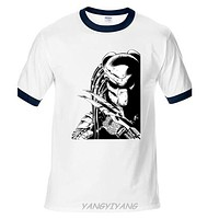 Predator type 2 classic movie alien TV eighties retro T shirt White