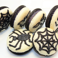 Gourmet French Macaron, Halloween macaron, Decorated Edible Gift Basket  - 1 dozen