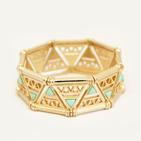 Gold and Mint Trifecta Bracelet