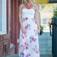 Fashion For Floral Maxi Dress, Purple