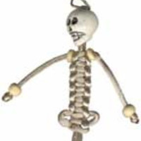 String Skeleton Key Ring