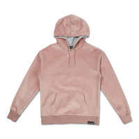 Bonded Velour Hoodie in Pink – Pink+Dolphin