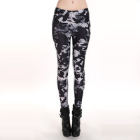 NEW 3117 sexy girl women Ghost Black crow Death Bird 3D prints Polyester elastic fitness Leggings pants Plus size