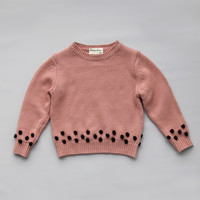 Vierra Rose Poppy Sweater in Dusty Rose -SW2012