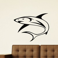 Wall Decal Vinyl Sticker Animal Predator Shark Sea Ocean Decor Sb473