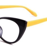 Becky Eyeglasses with Black Plastic Aviator Full Frame/Rim Frame