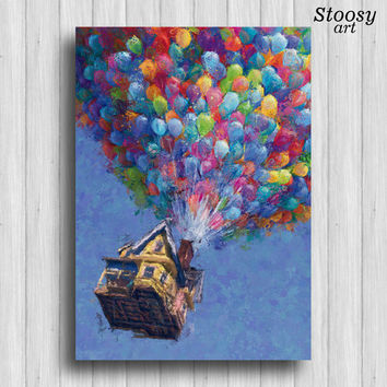 up print balloon house up movie poster pixar up house